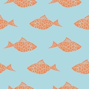 Gold Fish Stamp