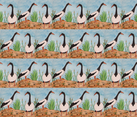 2_magpie_goose fabric by ngema on Spoonflower - custom fabric