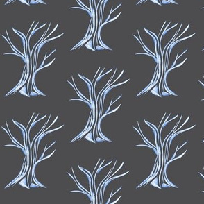 Windswept WinterTrees on Mystic Grey