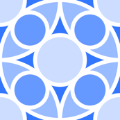 R4X circle mix : sapphire blue