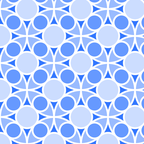 05486962 : R4 circle mix : sapphire blue fabric by sef on Spoonflower - custom fabric
