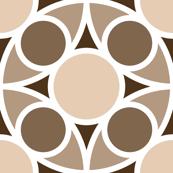 R4X circle mix : beige brown