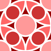 R4X circle mix : red