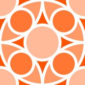 R4X circle mix : orange peach salmon coral