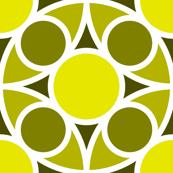 R4X circle mix : acid-yellow olive