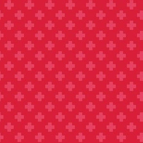 Cherry Tiny Crosses