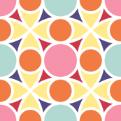 R4x2 circle mix : spring quilt