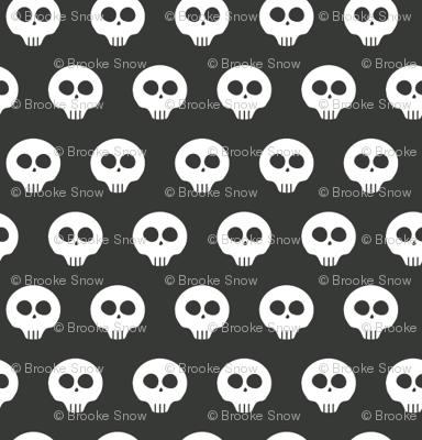 Charcoal Skull Dots 1