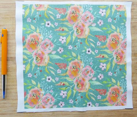 Fresh Summer - Peach / Sage Floral