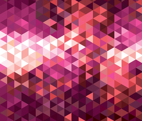 Coral Sunset Triangle Geometric fabric by electrogiraffe on Spoonflower - custom fabric
