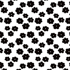 Black and white flower blossom scandinavian garden winter theme