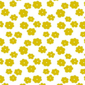 Ochre yellow flower blossom scandinavian garden summer theme