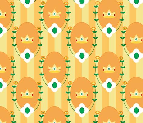 Princess Stripe in Orange fabric by geekygamergirl on Spoonflower - custom fabric