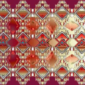 Diamond Jewels Red Orange Aqua