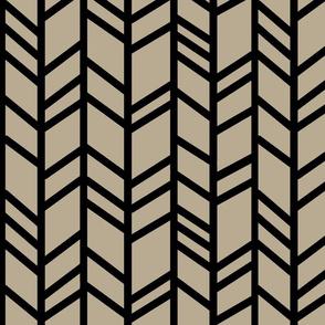 Crazy herringbone - taupe/black