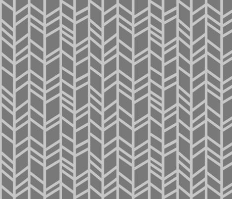 Crazy herringbone - greys fabric by sugarpinedesign on Spoonflower - custom fabric