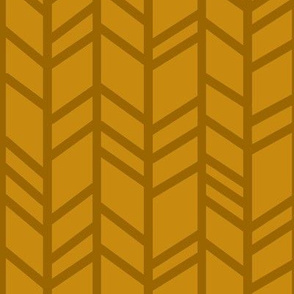 Crazy herringbone - mustard, gold