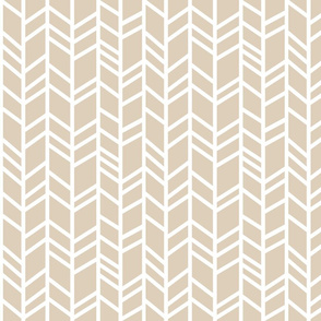 Crazy Herringbone - tan