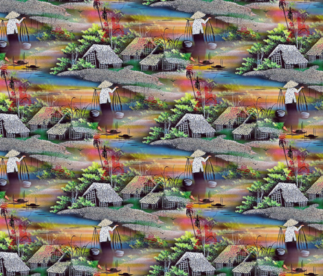 the water carrier fabric by stofftoy on Spoonflower - custom fabric