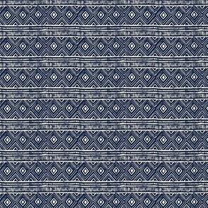 Mud Cloth // Navy & Eggshell - Custom Scale