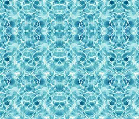 Light Teal Ocean fabric by lauriekentdesigns on Spoonflower - custom fabric