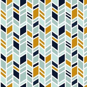 Mosaic Herringbone - southwest desert