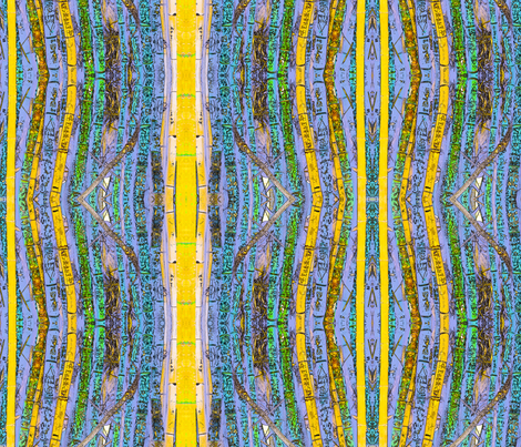 Blue Bamboo Grafitti fabric by ciswee on Spoonflower - custom fabric