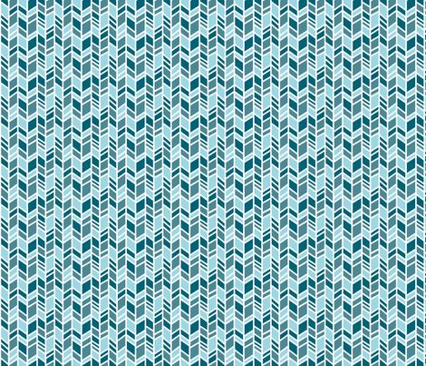 Herringbone - small scale - teal/blue - Winslow Wood fabric by sugarpinedesign on Spoonflower - custom fabric