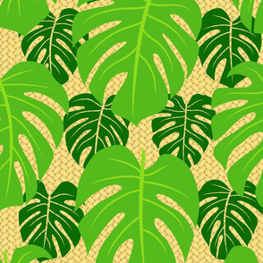 Monstera & palm weave