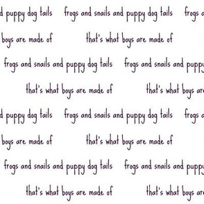 frogs and snails script in grape