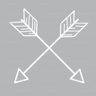 Crossed Arrows - white and grey