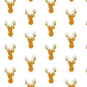 Deer- Gold/White