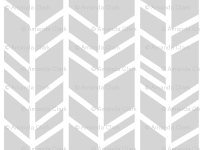 Crazy Herringbone - light grey/white