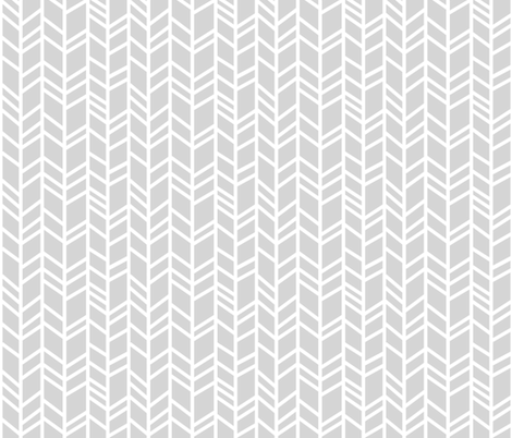 Crazy Herringbone - light grey/white fabric by sugarpinedesign on Spoonflower - custom fabric