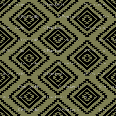 Aztec - Sage, Black