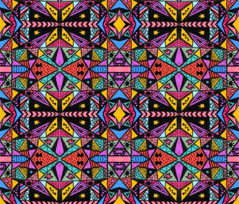 PYRAMIDS fabric by jenn's_world on Spoonflower - custom fabric