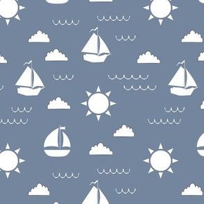 Sailboat Bay // Light Blue