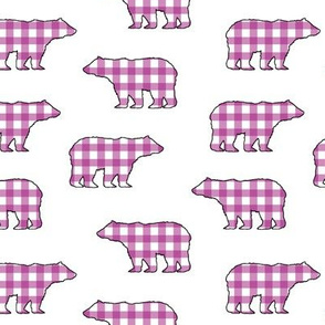Purple Gingham Bears // Sylvan Shoppe Collection