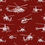 Helicopter Sketch // Maroon // Aeronautical Collection