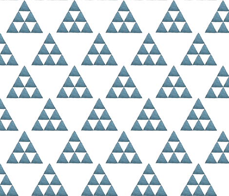 Watercolor Triangles Blue and White fabric by bella_modiste on Spoonflower - custom fabric