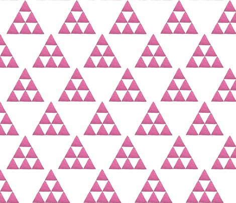 Watercolor Triangles Fushia and White fabric by bella_modiste on Spoonflower - custom fabric