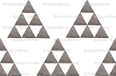Watercolor Triangles Gray and White