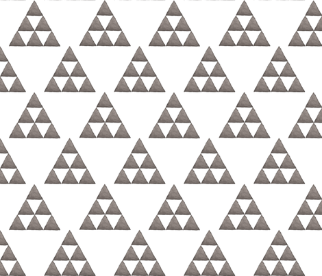 Watercolor Triangles Gray and White fabric by bella_modiste on Spoonflower - custom fabric