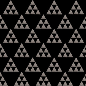Watercolor Triangles in Black and Gray