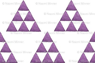 Watercolor Triangles Purple and White