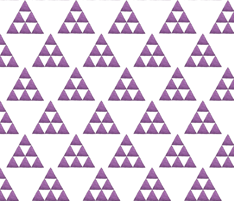 Watercolor Triangles Purple and White fabric by bella_modiste on Spoonflower - custom fabric