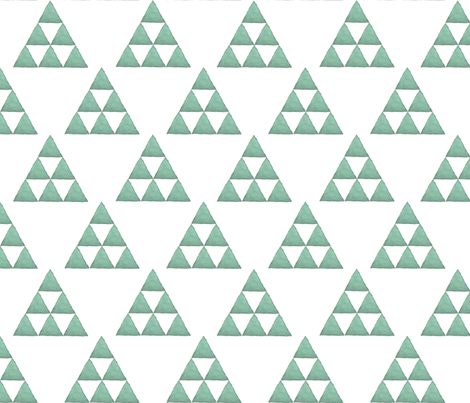 Watercolor Triangles Sage Green and White fabric by bella_modiste on Spoonflower - custom fabric