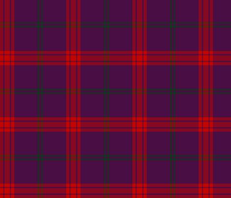 Lynch tartan, purple variant fabric by weavingmajor on Spoonflower - custom fabric
