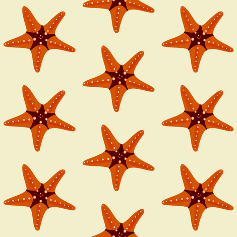 Sea Star 1 fabric by arts_and_herbs on Spoonflower - custom fabric