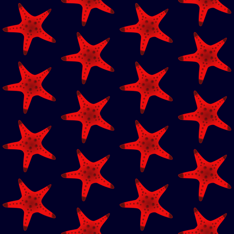 Sea Star 2 fabric by arts_and_herbs on Spoonflower - custom fabric